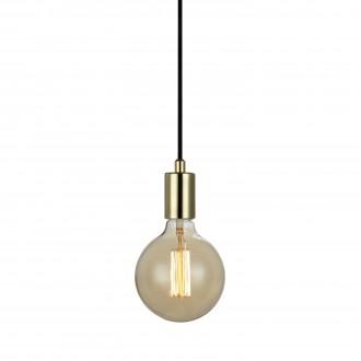 MARKSLOJD 106170 | Sky-MS Markslojd visilice svjetiljka sa prekidačem na kablu 1x E27 mesing, crno