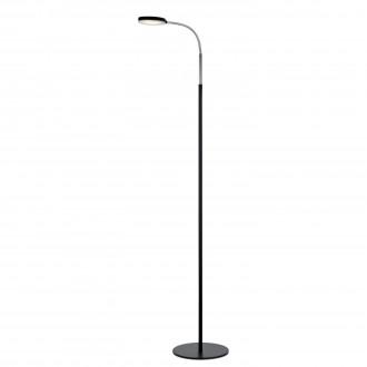 MARKSLOJD 106465 | Flex-MS Markslojd podna svjetiljka 132cm sa prekidačem na kablu fleksibilna 1x LED 300lm 3000K krom, crno