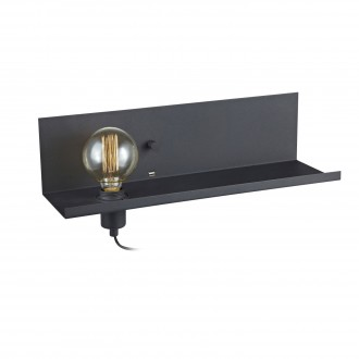 MARKSLOJD 106482 | Multi-MS Markslojd zidna svjetiljka sa tiristorskim prekidačem jačina svjetlosti se može podešavati, USB utikač 1x E27 crno