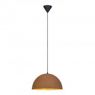 MARKSLOJD 106486 | Cork Markslojd visilice svjetiljka 1x E27 crno, smeđe