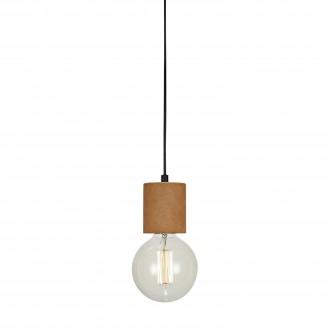 MARKSLOJD 106487 | Cork Markslojd visilice svjetiljka sa prekidačem na kablu 1x E27 crno, smeđe