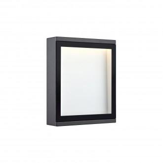 MARKSLOJD 106513 | Lamia Markslojd zidna svjetiljka 1x LED 280lm IP44 sivo, prozirno