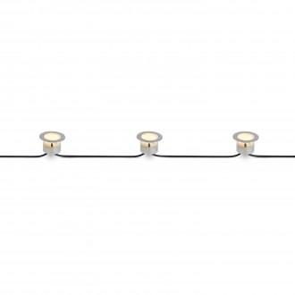 MARKSLOJD 106533 | Tradgard Markslojd ugradbena svjetiljka - start 3x LED 87lm 3000K IP67 čelik, prozirno