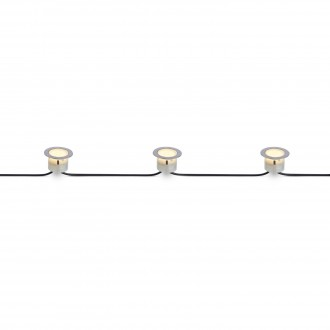 MARKSLOJD 106534 | Tradgard Markslojd ugradbena svjetiljka - extra 3x LED 87lm 3000K IP67 čelik, prozirno