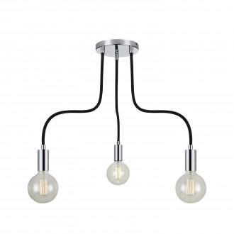 MARKSLOJD 106599 | Raw Markslojd stropne svjetiljke svjetiljka 3x E27 krom, crno
