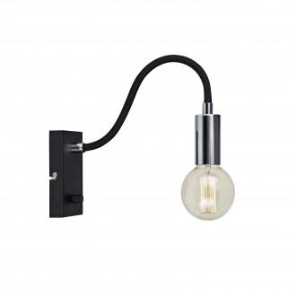 MARKSLOJD 106600 | Raw Markslojd zidna svjetiljka sa tiristorskim prekidačem jačina svjetlosti se može podešavati 1x E27 krom, crno