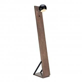 MARKSLOJD 106611 | Fletcher Markslojd podna svjetiljka 148cm s prekidačem 1x E14 boja oraha, crno, bijelo