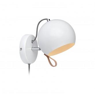 MARKSLOJD 106616 | Ball-MS Markslojd zidna svjetiljka sa prekidačem na kablu elementi koji se mogu okretati 1x E14 krom, bijelo, smeđe