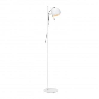 MARKSLOJD 106617 | Ball-MS Markslojd podna svjetiljka 138cm sa prekidačem na kablu elementi koji se mogu okretati 1x E14 krom, bijelo, smeđe