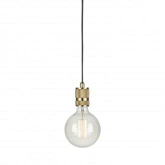 MARKSLOJD 106619 | Etui Markslojd visilice svjetiljka sa prekidačem na kablu 1x E27 mesing, crno