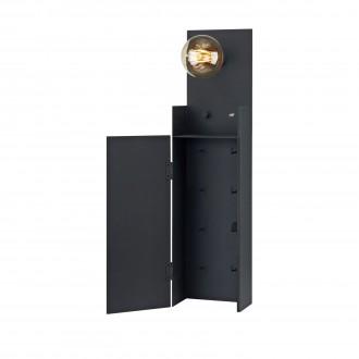 MARKSLOJD 106850 | Combo-MS Markslojd zidna svjetiljka sa tiristorskim prekidačem jačina svjetlosti se može podešavati, USB utikač, privjesak za ključ 1x E27 crno