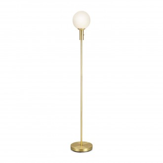 MARKSLOJD 106867 | Minna Markslojd podna svjetiljka 144cm s prekidačem 1x E14 mesing, opal