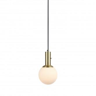 MARKSLOJD 106868 | Minna Markslojd visilice svjetiljka s prekidačem 1x E14 mesing, opal