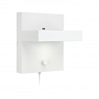 MARKSLOJD 106899 | Kubik Markslojd zidna svjetiljka sa tiristorskim prekidačem jačina svjetlosti se može podešavati, USB utikač 1x LED 525lm 3000K bijelo