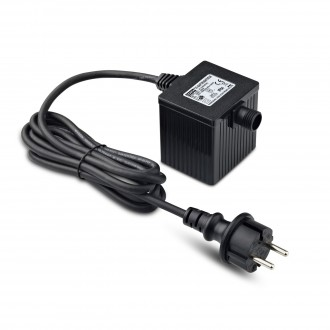 MARKSLOJD 106924 | Garden-24 Markslojd element sustava - LED napojna jedinica 36W 24V sa kablom i vilastim utikačem IP64 crno
