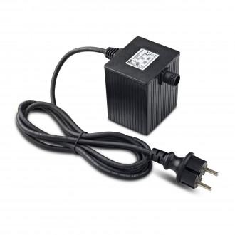 MARKSLOJD 106925 | Garden-24 Markslojd element sustava - LED napojna jedinica 64W 24V sa kablom i vilastim utikačem IP64 crno