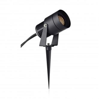 MARKSLOJD 106930 | Garden-24 Markslojd zidna, stropne svjetiljke, ubodne svjetiljke svjetiljka jačina svjetlosti se može podešavati, elementi koji se mogu okretati 1x LED 330lm 3000K IP44 crno