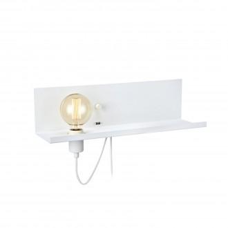 MARKSLOJD 106969 | Multi-MS Markslojd zidna svjetiljka sa tiristorskim prekidačem jačina svjetlosti se može podešavati, USB utikač 1x E27 bijelo