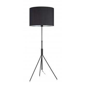 MARKSLOJD 107000 | Sling Markslojd podna svjetiljka 164cm s prekidačem 1x E27 crno, bijelo