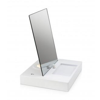 MARKSLOJD 107057 | Reflect Markslojd stolna svjetiljka 36cm sa tiristorskim prekidačem jačina svjetlosti se može podešavati, USB utikač 1x LED 525lm 3000K bijelo, zrcalo
