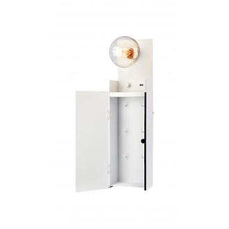 MARKSLOJD 107064 | Combo-MS Markslojd zidna svjetiljka sa tiristorskim prekidačem jačina svjetlosti se može podešavati, USB utikač, privjesak za ključ 1x E27 bijelo