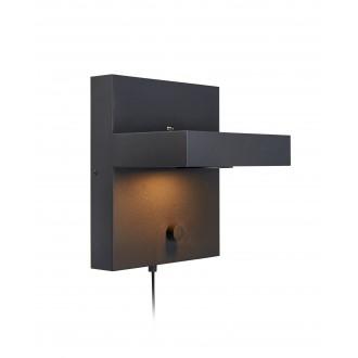 MARKSLOJD 107065 | Kubik Markslojd zidna svjetiljka sa tiristorskim prekidačem jačina svjetlosti se može podešavati, USB utikač 1x LED 525lm 3000K crno