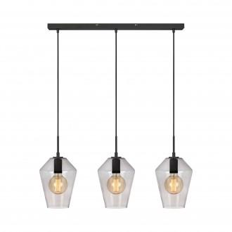 MARKSLOJD 107132 | Retro-MS Markslojd visilice svjetiljka 3x E27 crno, dim, prozirno