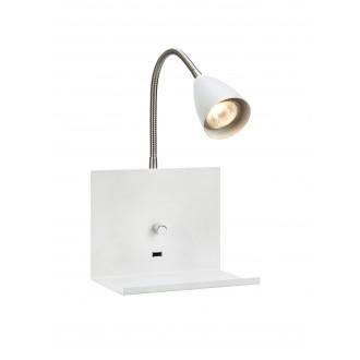 MARKSLOJD 107140 | Logi Markslojd zidna svjetiljka sa tiristorskim prekidačem jačina svjetlosti se može podešavati, USB utikač 1x GU10 bijelo, krom