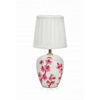 MARKSLOJD 107193 | Cherry Markslojd stolna svjetiljka 33cm s prekidačem 1x E14 bijelo, ružičasto, šare
