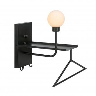 MARKSLOJD 107198 | Carson-MS Markslojd zidna svjetiljka s prekidačem jačina svjetlosti se može podešavati, USB utikač, viješalica 1x G9 crno, opal