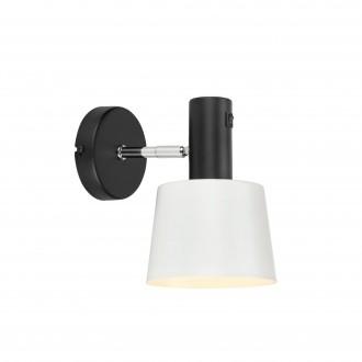 MARKSLOJD 107216 | Bodega Markslojd zidna svjetiljka s prekidačem elementi koji se mogu okretati 1x E27 crno, bijelo
