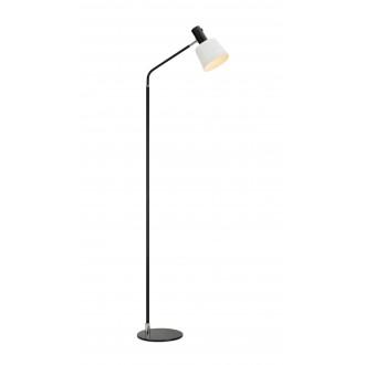 MARKSLOJD 107219 | Bodega Markslojd podna svjetiljka 144,5cm s prekidačem elementi koji se mogu okretati 1x E27 crno, bijelo
