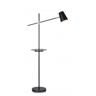 MARKSLOJD 107307 | Linear-MS Markslojd podna svjetiljka 125cm s prekidačem elementi koji se mogu okretati, USB utikač 1x E14 crno, krom