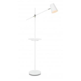MARKSLOJD 107308 | Linear-MS Markslojd podna svjetiljka 125cm s prekidačem elementi koji se mogu okretati, USB utikač 1x E14 bijelo