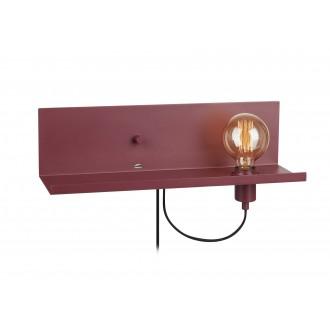 MARKSLOJD 107367 | Multi-MS Markslojd zidna svjetiljka sa tiristorskim prekidačem jačina svjetlosti se može podešavati, USB utikač 1x E27 burgundac