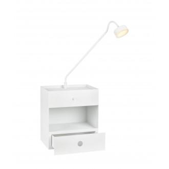 MARKSLOJD 107376 | Draw Markslojd zidna svjetiljka sa tiristorskim prekidačem jačina svjetlosti se može podešavati, USB utikač, fioka 1x LED 525lm bijelo, opal