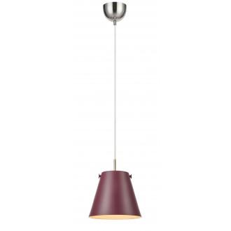 MARKSLOJD 107391 | Tribe-MS Markslojd visilice svjetiljka s mogućnošću skraćivanja kabla 1x E27 burgundac, čelik
