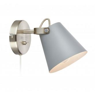 MARKSLOJD 107396 | Tribe-MS Markslojd zidna svjetiljka s prekidačem elementi koji se mogu okretati 1x E14 sivo, čelik