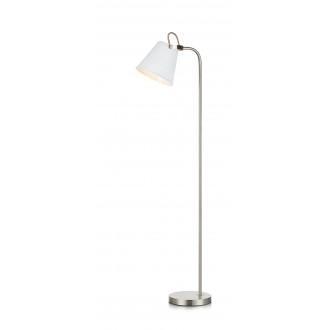 MARKSLOJD 107398 | Tribe-MS Markslojd podna svjetiljka 140cm sa prekidačem na kablu elementi koji se mogu okretati 1x E27 bijelo, čelik
