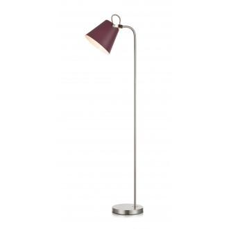 MARKSLOJD 107400 | Tribe-MS Markslojd podna svjetiljka 140cm sa prekidačem na kablu elementi koji se mogu okretati 1x E27 burgundac, čelik