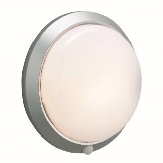 MARKSLOJD 125028 | Celtic-MS Markslojd zidna svjetiljka sa senzorom 1x E27 IP44 sivo, bijelo