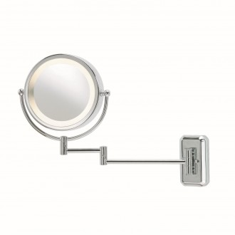 MARKSLOJD 246012 | Face Markslojd zidna zrcalo s prekidačem elementi koji se mogu okretati 1x E14 IP21 krom, bijelo, zrcalo