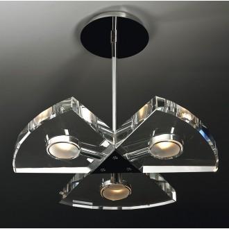 MAXLIGHT 120 12 12 01 | Venus Maxlight visilice svjetiljka 3x G9 krom, prozirno