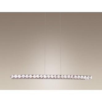 MAXLIGHT 2866 | Prezzio Maxlight visilice svjetiljka 10x LED 720lm 3000K krom, prozirno