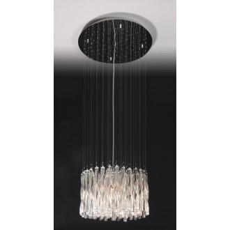 MAXLIGHT 3817/10P | BilbaoM Maxlight visilice svjetiljka 10x G4 krom, prozirno
