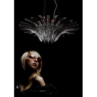 MAXLIGHT 3960/12P | Kristal Maxlight visilice svjetiljka 12x G4 krom, prozirno