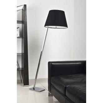 MAXLIGHT 5103F/BL | OrlandoM Maxlight podna svjetiljka 158cm s prekidačem 1x E27 crno, krom