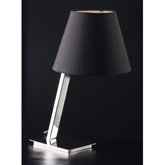 MAXLIGHT 5103T/BL | OrlandoM Maxlight stolna svjetiljka 44cm s prekidačem 1x E27 crno, krom