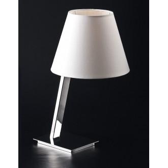 MAXLIGHT 5103T/WH | OrlandoM Maxlight stolna svjetiljka 44cm s prekidačem 1x E27 bijelo, krom