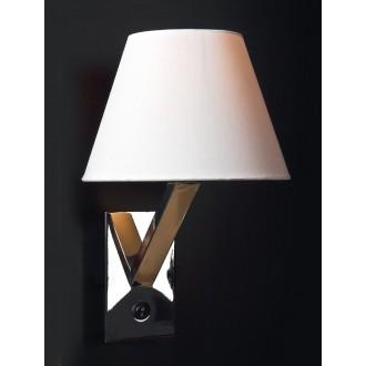 MAXLIGHT 5103W/WH | OrlandoM Maxlight zidna svjetiljka s prekidačem 1x E27 bijelo, krom